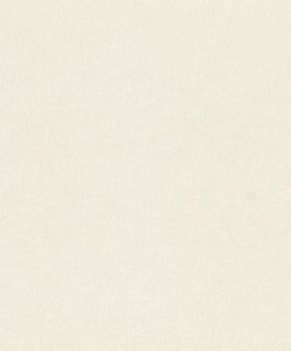 Vliestapete Rasch Uni-Design creme-weiß Metallic 420616