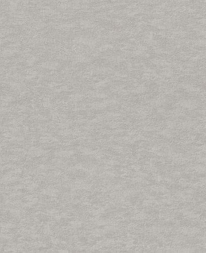 Vliestapete Rasch Uni-Design silber-grau Metallic 420647