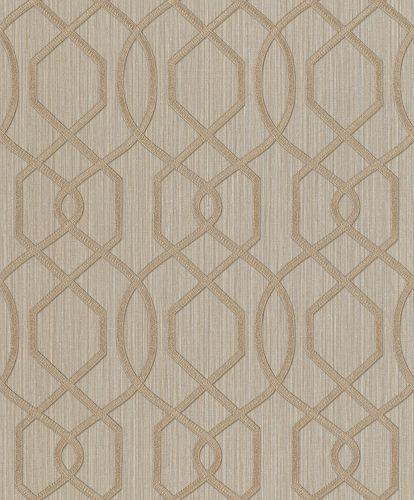 Vliestapete Rasch Grafik-Design beige grau Metallic 420715