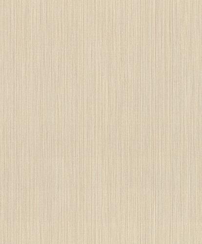 Vliestapete Rasch Feine Streifen beige gold 420821