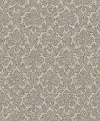 Vliestapete Rasch Ornamente grau silber Metallic 420913