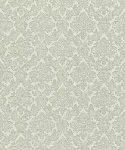Vliestapete Rasch Ornamente weiß grau Metallic 420944