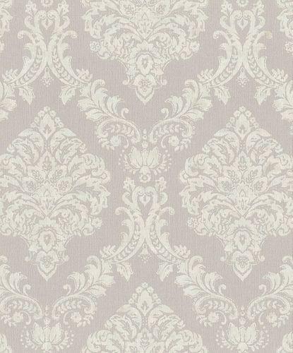 Vliestapete Rasch Opulent Barock grau weiß 421125