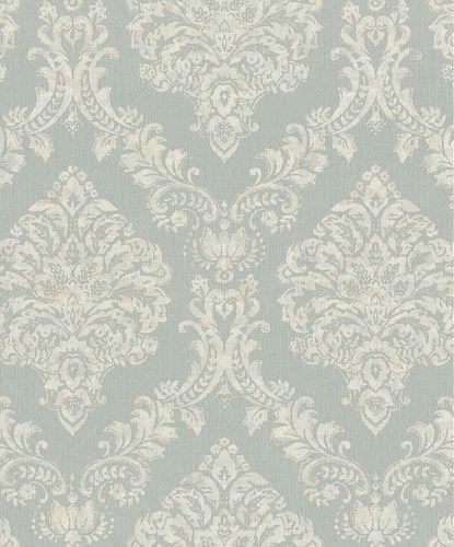 Vliestapete Rasch Opulent Barock blau weiß-beige 421132