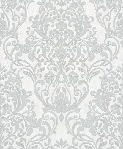 Vliestapete Ornamente Metallic grau silber 32602