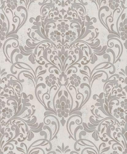 Vliestapete Ornamente Metallic grau kupfer 32603