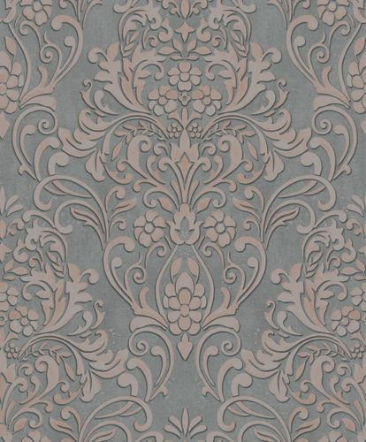 Non-Woven Wallpaper Ornaments metallic grey pink 32604