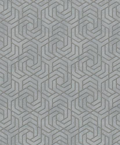 Vliestapete 3D Grafisch Metallic grau gold 32610