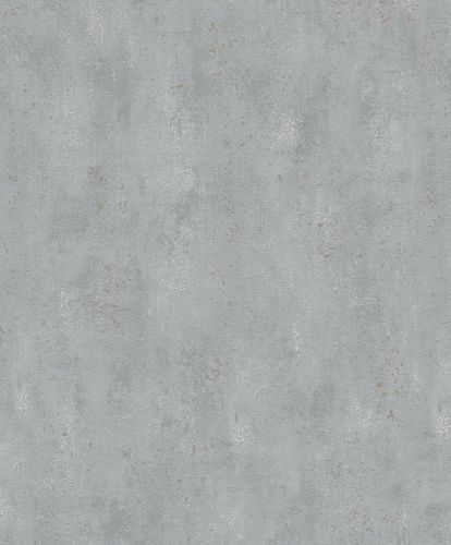 Non-Woven Wallpaper Concrete metallic grey gold 32615