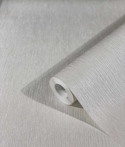 Non-Woven Wallpaper Lines Silk metallic white grey 32621