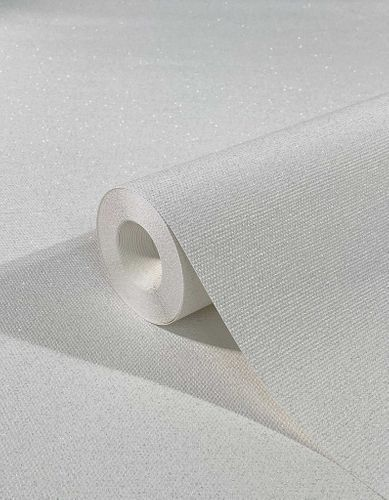Non-Woven Wallpaper Structure Glitter white silver 32630