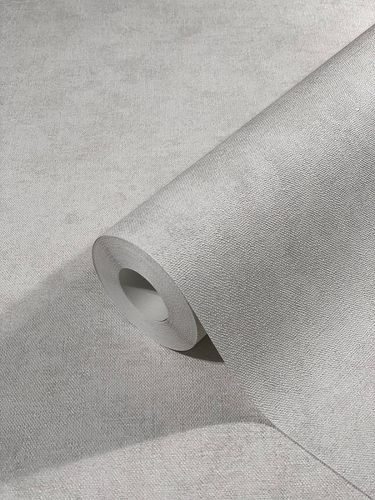 Non-Woven Wallpaper Plain Mottled grey-beige 32403