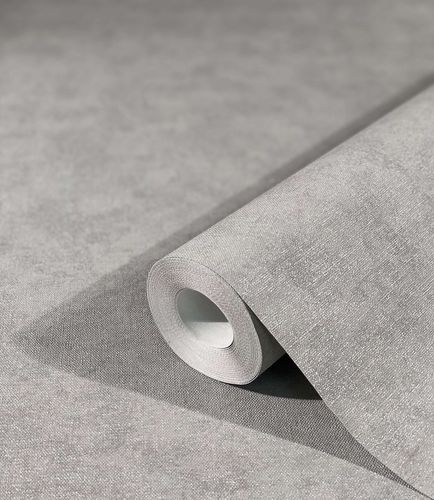 Non-Woven Wallpaper Plain Mottled dark grey 32404