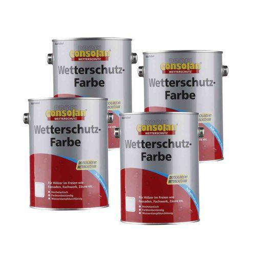 Consolan Wetterschutzfarbe Langzeitschutz Seidengl. 2,5l