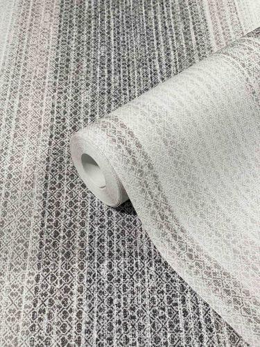Vliestapete Streifen Ethno grau beige Marburg 32662