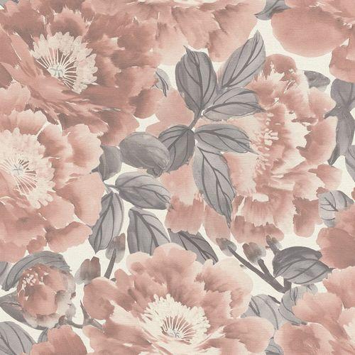 Vliestapete Rasch Floral Blumen altrosa grau weiß 408331