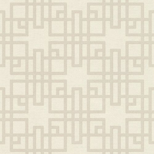 Non-Woven Wallpaper Rasch Graphic taupe white 409239