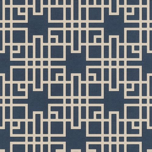 Non-Woven Wallpaper Rasch Graphic blue beige 409253