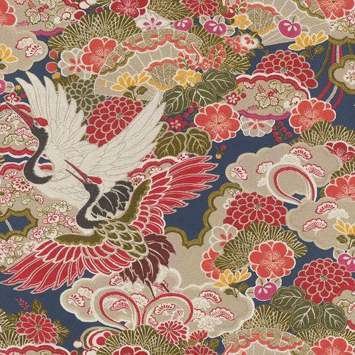 Vliestapete Rasch Blumen Vögel rot grün blau 409352