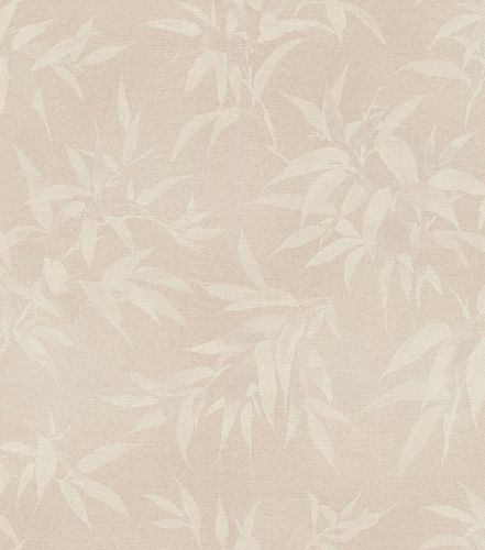 Non-Woven Wallpaper Rasch Bamboo Leaves old-pink 409758