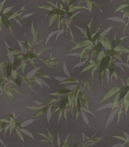 Vliestapete Rasch Bambusblätter schwarz grün 409772