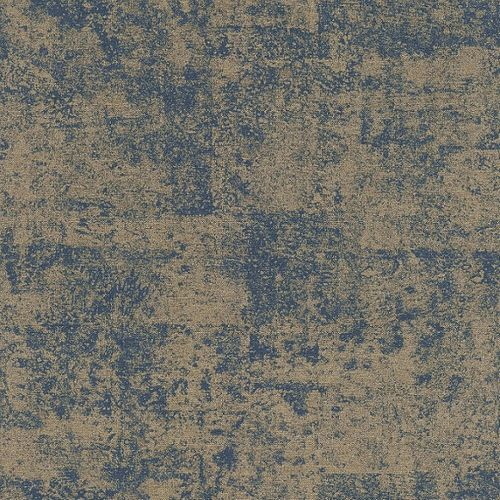 Non-Woven Wallpaper Rasch Concrete blue gold 410723