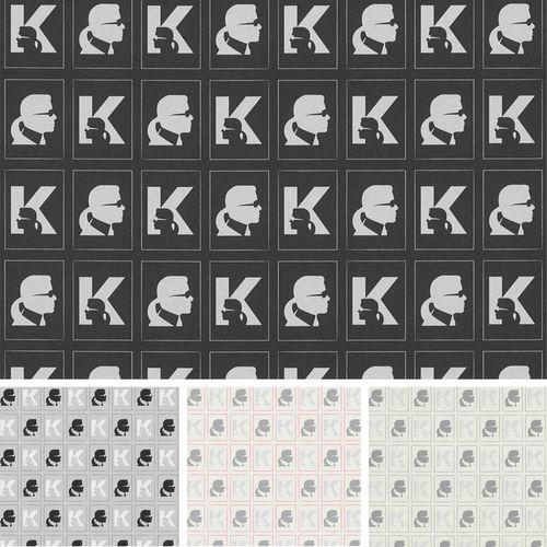 Vliestapete Karl Lagerfeld Designer Profil Grafik