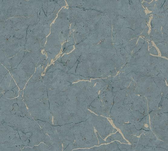Non-Woven Wallpaper Mable grey blue Gloss 37855-1