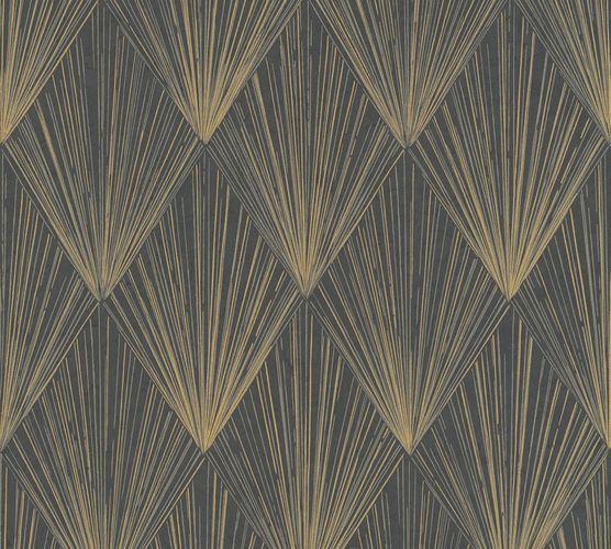 Non-Woven Wallpaper Fan Graphic gold metallic 37864-4