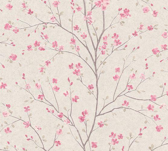 Non-Woven Wallpaper Cherry Blossom beige pink 37912-1