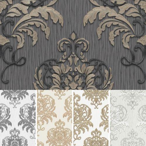 Erismann non-woven wallpaper spotlight baroque cream gold grey