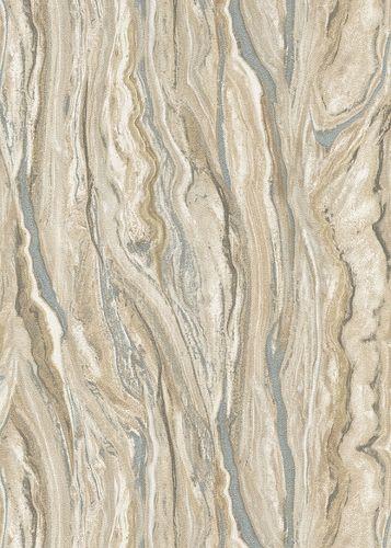 Vliestapete Elle Marmor-Optik braun silber 10149-02