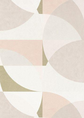 Vliestapete Elle Kreis Grafisch rosa weiß gold 10150-05