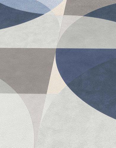 Vliestapete Elle Kreis Grafisch blau grau braun 10150-08