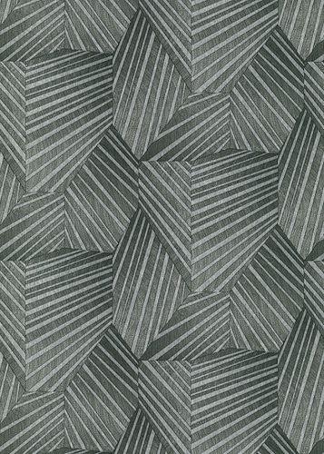 Vliestapete Elle 3D Dreiecke anthrazit Glanz 10152-47