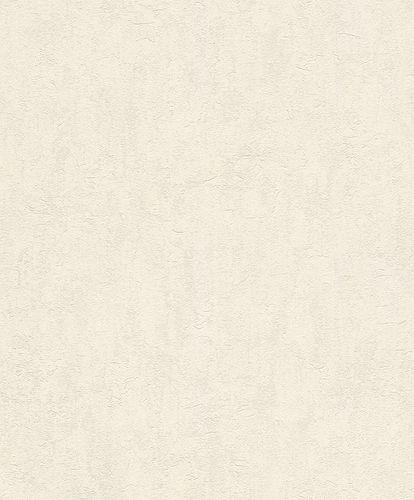 Rasch Vliestapete Putz Uni weiß grau 458015