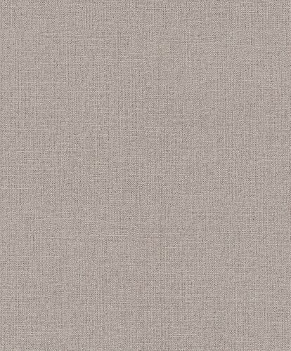Rasch Wallpaper Plain Textile purple-brown 639643