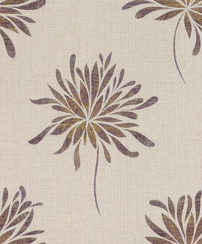 Rasch Wallpaper Blossom gold-pink Metallic 649031