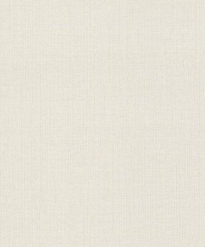 Rasch Vliestapete Textil Uni weiß silber 649116