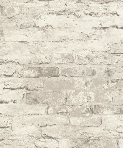 Rasch Wallpaper Stone Wall grey 649406