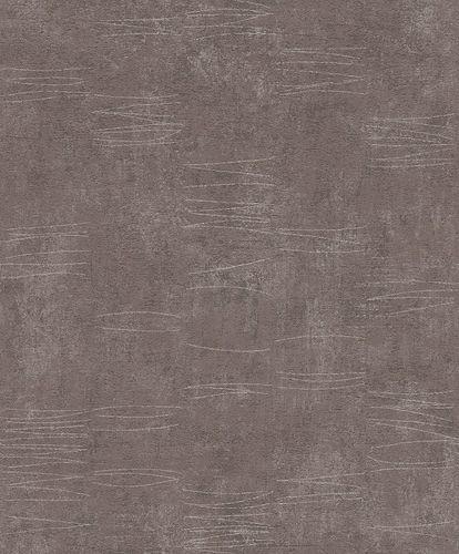 Rasch Wallpaper Concrete Flitter brown silver 649970