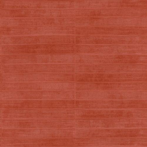 Vliestapete Rasch Leder Riemchen orange-rot Glanz 418507