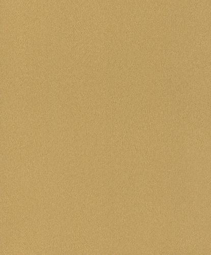 Non-Woven Wallpaper Rasch Fur Plain yellow-gold 418651