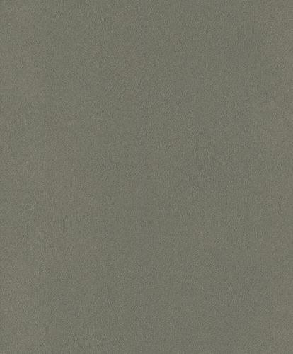 Non-Woven Wallpaper Rasch Fur Plain black-green 418668