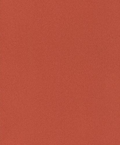 Vliestapete Rasch Fell Uni Struktur orange-rot 418682