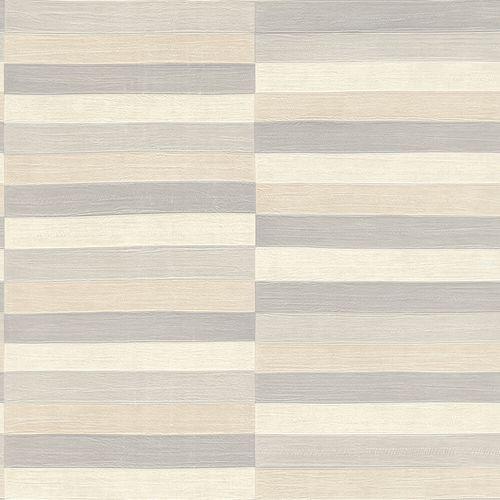 Non-Woven Wallpaper Rasch Stripes Leather grey 418712