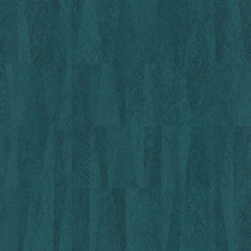 Vliestapete Rasch Bananen-Blätter Bast-Optik blau 418934