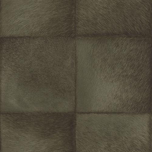 Vliestapete Rasch Fell Quadrate schwarz-grün 419146