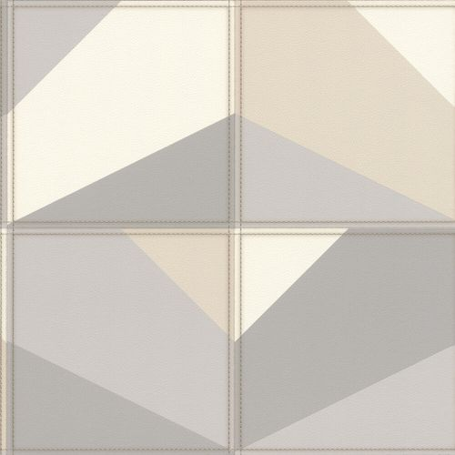 Non-Woven Wallpaper Rasch Graphic Leather grey 419238