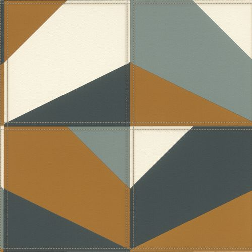 Non-Woven Wallpaper Rasch Graphic Leather brown 419252